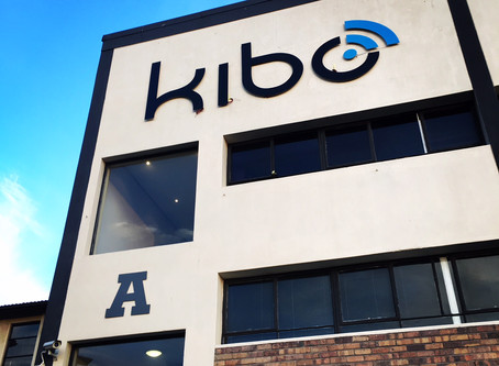 Our Kibo signage goes up!