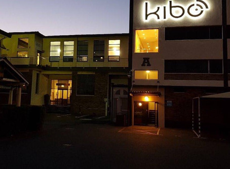 Kibo lights up the night sky!