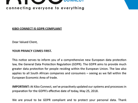GDPR Notice: Your Privacy Comes First