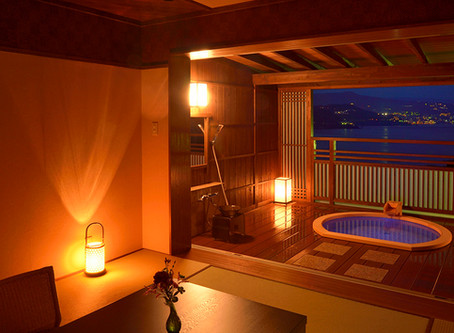 時間を旅する宿 海のはな 客室の露天風呂