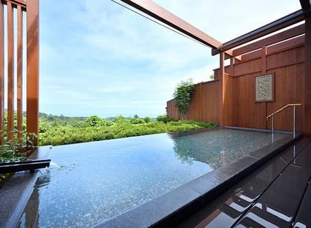 アンダピング 「大浴場の露天風呂」と「大島一望の貸切露天風呂」