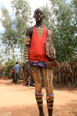 エチオピア・ハマル族の少年