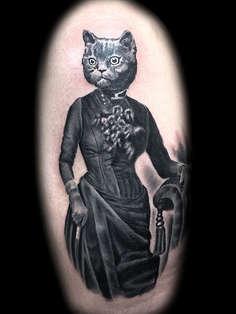 Surreal Cat Tattoos Las Vegas Joe Riley