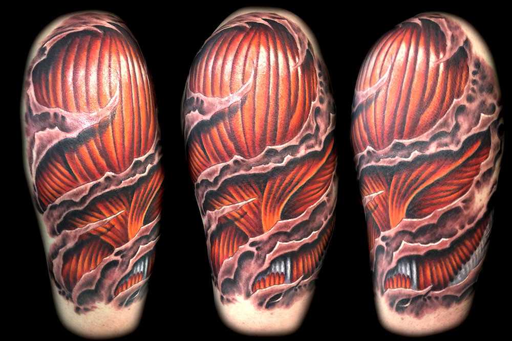 3d Skin Rip Tattoos Muscle Best Tattoo Artist Shops Las