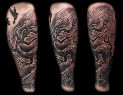 Tree Tattoo - Las Vegas Tattoo Artist - Joe Riley - Inner Visions Tattoo