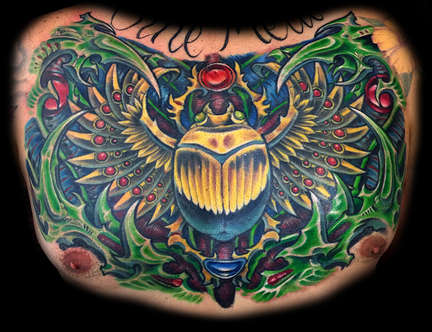 Scarab Beetle Tattoo with Biomechanical