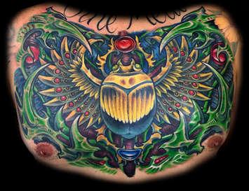 Scarab Beetle Tattoo with Biomechanical