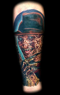 Freddy Krueger Color Portrait Tattoo