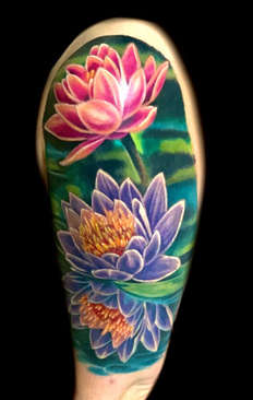 Lotus Flower Cover Up Tattoo