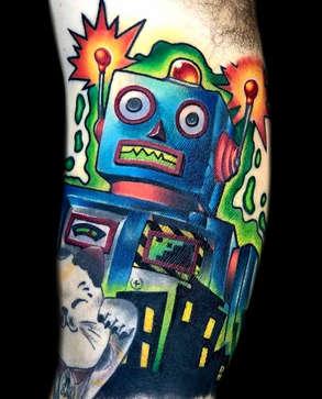 Color Robot Tattoo - Las Vegas - Josh Herrera