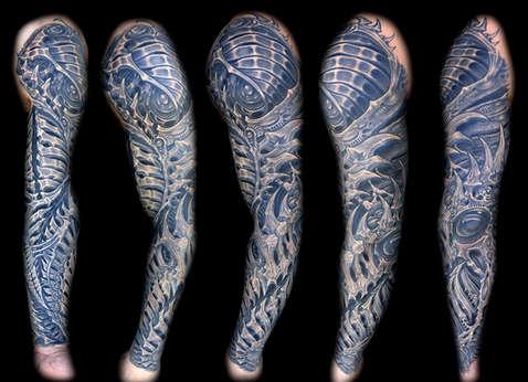 Biomechanical Sleeve Tattoo