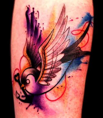 Watercolor Tattoos by Josh Herrera
