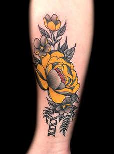 Flower Tattoos by Las Vegas Tattoo Artist Danny Valens at Inner Visions