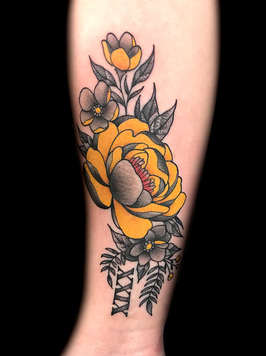 Flower Tattoos by Las Vegas Tattoo Artist Danny Valens at Inner Visions