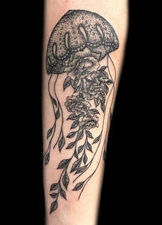 Blackwork Jellyfish Tattoos by Las Vegas Tattoo Artist Danny Valens