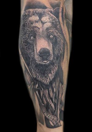 Realistic Bear Tattoo by Danny Valens