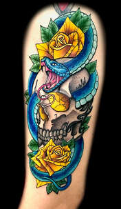 Neo Traditional Tattoo Artist Las Vegas Danny Valens