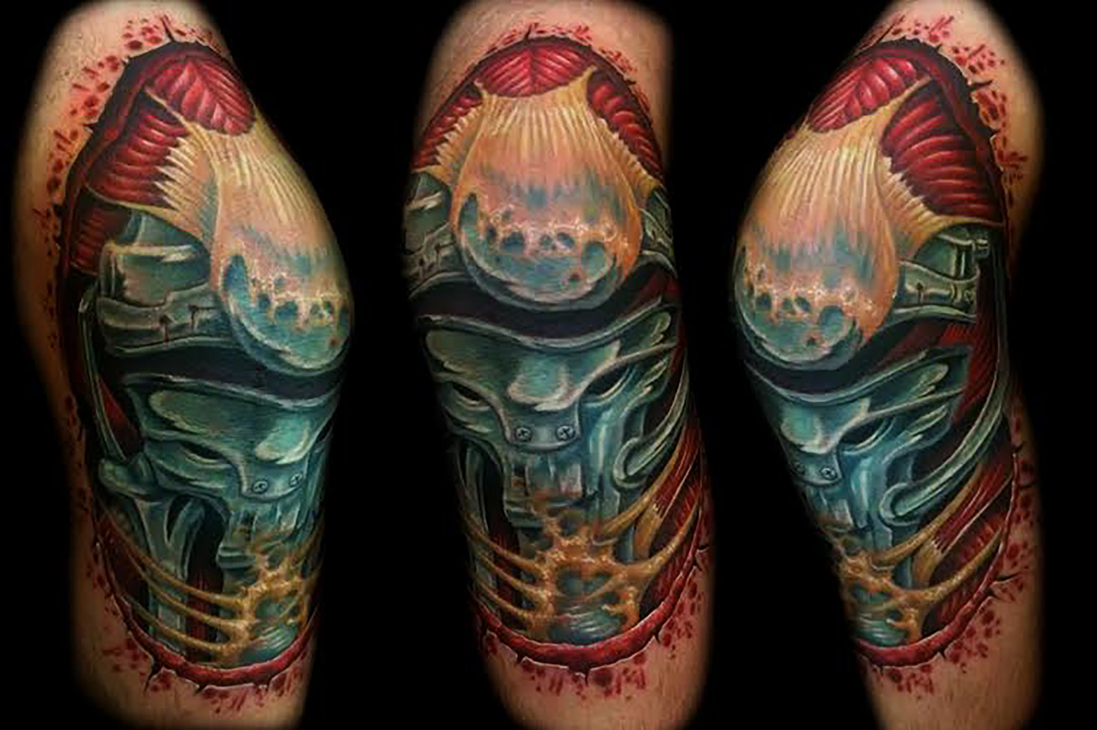 Biomech Skin Rips Tattoos 3d Inner Visions Tattoo Shops In