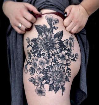 Floral Tattoos - Las Vegas - Josh Herrera