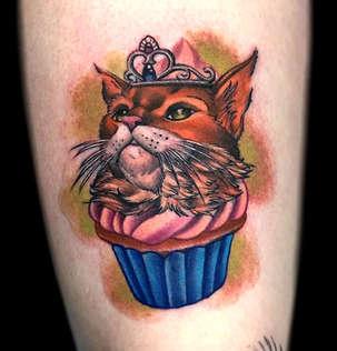 Cupcake Tattoo by Las Vegas Tattoo Artist Josh Herrera