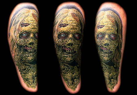 Best Zombie Tattoos by Las Vegas Tattoo Artist Joe Riley