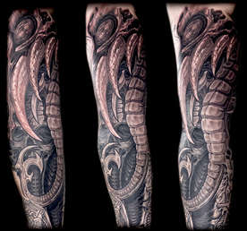 Biomech Sleeve Tattoo