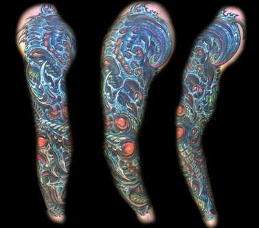 Biomechanical Tattoo Sleeves