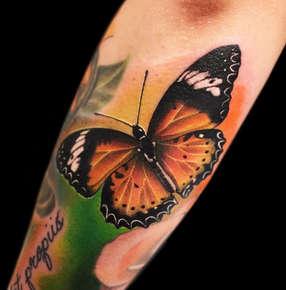 Realistic Butterfly Tattoo by Josh Herrera