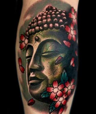 Realistic Buddha Tattoo by Josh Herrera