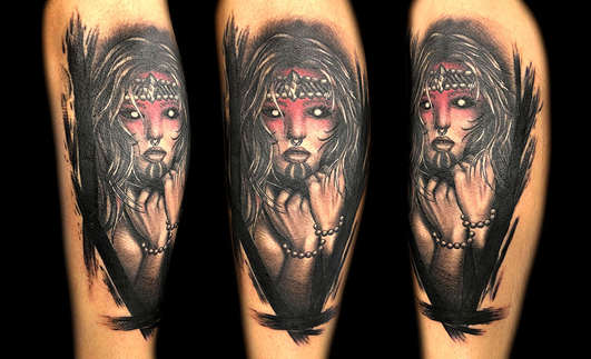 Dark Art Female Tattoos by Las Vegas Tattoo Artist Danny Valens