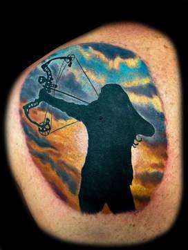 Archery Tattoos by Joe Riley, Las Vegas Best Tattoo Artist