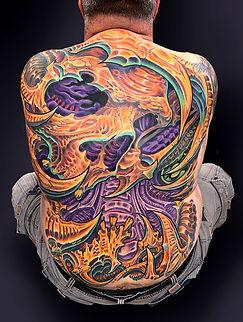 biomech skull tattoos