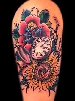 Traditional Floral Tattoo - Las Vegas - Josh Herrera