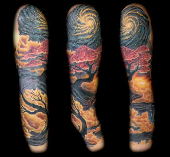 Custom Feminine Sleeve Tattoo by Joe Riley