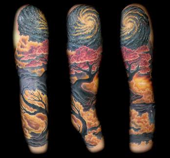 Custom Feminine Sleeve Tattoo by Joe Riley