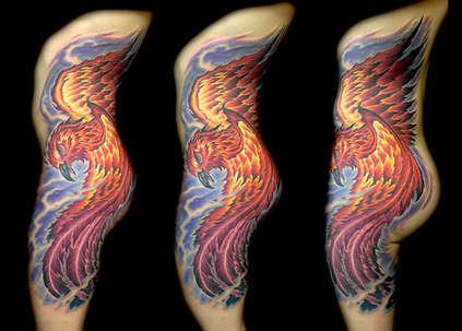 Phoenix Tattoo by Las Vegas Tattoo Artist Joe Riley