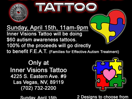Inner Visions Tattoo: Las Vegas Tattoo Shop supporting autism awareness