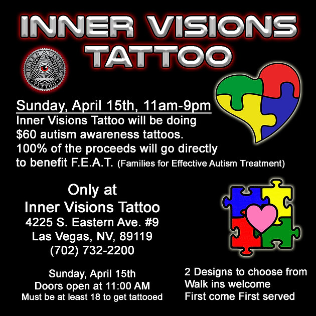 Inner Visions Tattoo: Las Vegas Tattoo Shop supporting autism ...