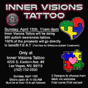 Best Tattoo shops in Las Vegas near me Supports Autism