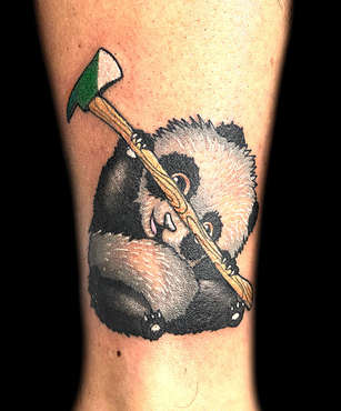 Panda Tattoo by Danny Valens, Las Vegas Tattoo Artist at Inner Visions