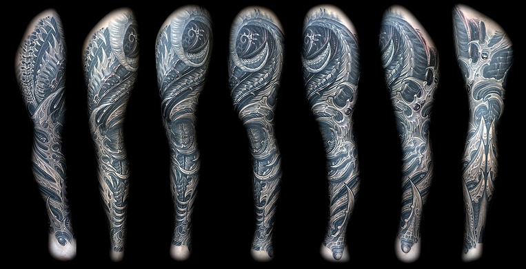 best biomech sleeve tattoos