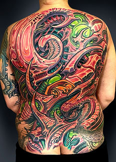 biomechanical tattoo for women