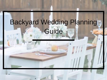 Backyard Wedding Guide