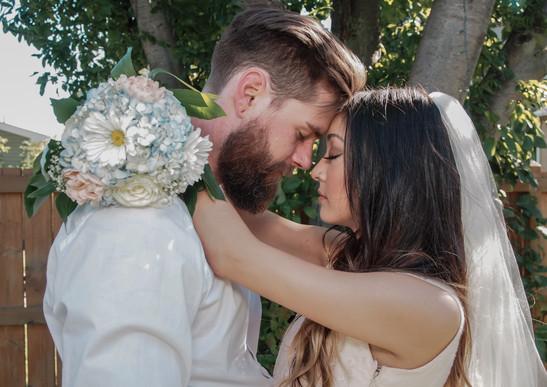 Backyard wedding Edmonton