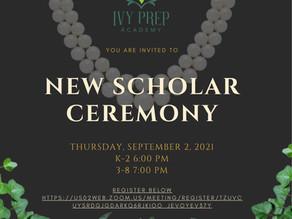 New Scholar Ceremony