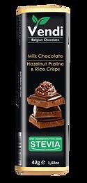 Milk Chocolate - Hazelnut Praline & Rice