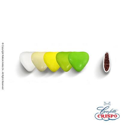 Mini Choco Καρδιές Selection Green