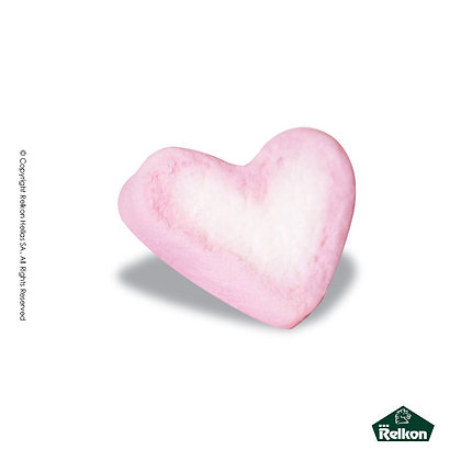 Marshmallow Καρδιά Ροζ-Λευκό