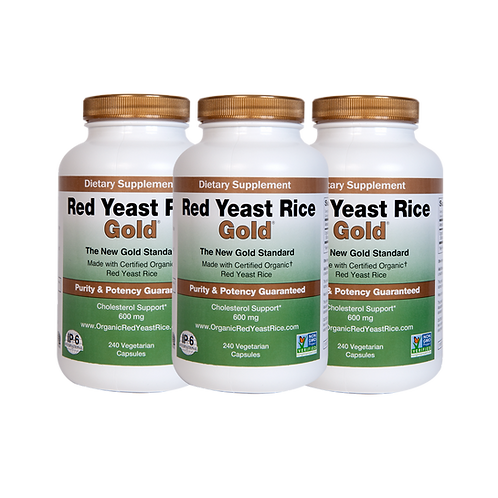 RED YEAST RICE GOLD 240 CAPSULES - 3 PACK