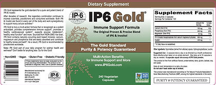 IP6 Gold 240 capsule Label